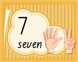 Handgestenschablone der Nr. Sieben