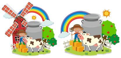 Eine Reihe von Happy Farm