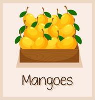 Eine Kiste voller Mangos vektor