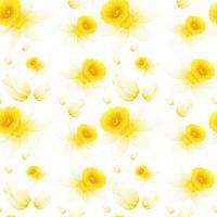 Hintergrunddesign mit nahtlosen Blumen vektor