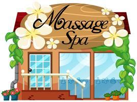 Ein Massage- und Spa-Shop vektor