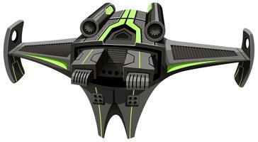 Raumschiff des modernen Designs auf Weiß vektor