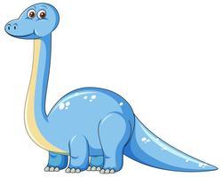Gullig blå dinosaurisk karaktär vektor