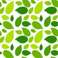 Grönt blad sömlöst mönster vektor