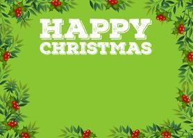 Happy Christmas-Zeichen mit Misteln