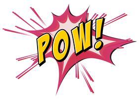 Pow Flash auf weiß vektor