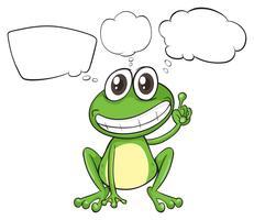 Ein kleiner Frosch mit leeren Legenden vektor