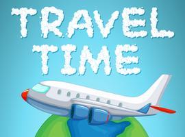 Reisezeit mit dem Flugzeug vektor