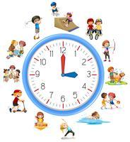 Tiden är relaterad till aktivitet vektor