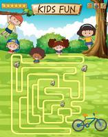 Barn rolig spelmall vektor