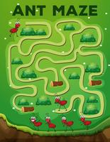 Ameise Labyrinth Spielvorlage