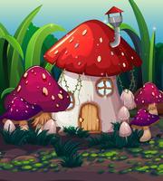 Förtrollad magisk svamphus vektor