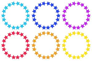 Kreise aus Sternen vektor