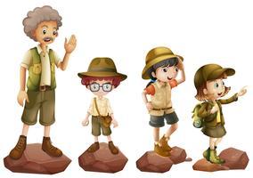 En familj av upptäcktsresande