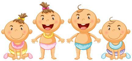 Pojke och tjej småbarn vektor