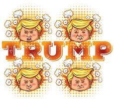 Charakterskizze von US-Präsident Trump vektor