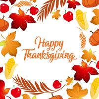 Happy Thanksgiving fall koncept