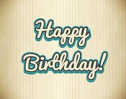 Grattis på födelsedagen design