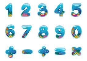 Zahlen und Zeichen vektor