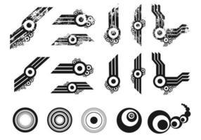 Grunge cirkel vektor pack