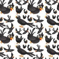 Nahtloses Hintergrunddesign mit dem Krähenfliegen