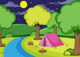 Camping im Wald