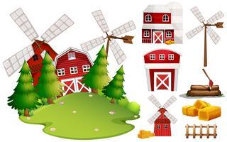 Ein Scheunenhaus und ein Farmelement