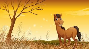 En leende häst vektor