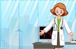 Ein Arzt im modernen Krankenhaus