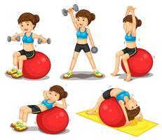 Fitness-Serie vektor