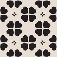 Muster mit Kleeblättern, das Symbol des St. Patricks Day in Irland