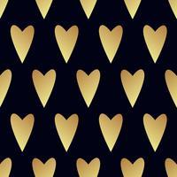 Nahtloses Goldmuster mit Herzen. vektor
