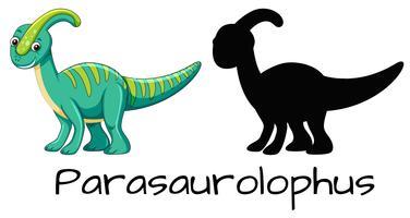 Set av parasaurolophus design vektor