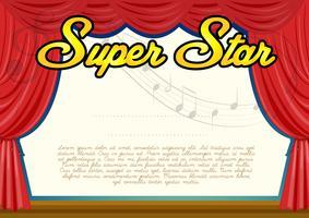 Certifieringsmall för superstjärnan vektor