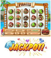 Spielvorlage mit Piratencrew-Charakteren vektor