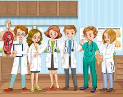 Ett doktorslag på sjukhuset vektor