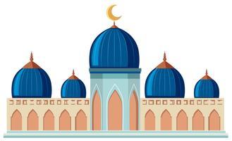 En vacker moské på vit bakgrund
