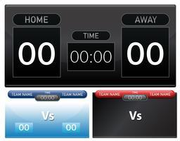 Eine Reihe von Scoreboard-Vorlage vektor