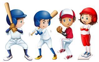 Baseball-Team vektor