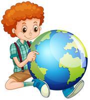 Liten pojke och världen vektor