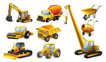 Verschiedene Arten von Baufahrzeugen vektor