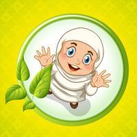 Moslemisches Mädchen mit glücklichem Gesicht vektor