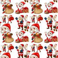 Nahtloser Weihnachtsmann vektor