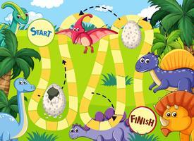 Dinosaurväg brädspel vektor