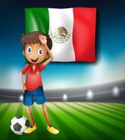 En fotbollsflagga i Mexiko