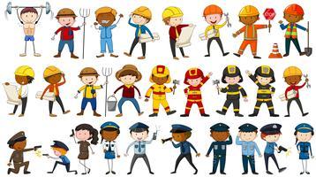 Menschen in verschiedenen Berufen