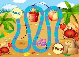 Sommer Brettspielvorlage vektor