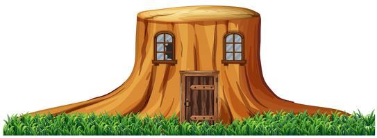 Zuhause im Baumstumpf