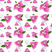 Sömlös bakgrundsdesign med rosa pappersblommor
