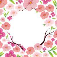 Asiatische rosa japanische Sakura-Schablone vektor